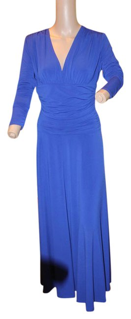Preload https://img-static.tradesy.com/item/21542493/shape-fx-bold-blue-luxurious-vneck-jersey-very-slimming-mid-length-night-out-dress-size-8-m-0-1-650-650.jpg