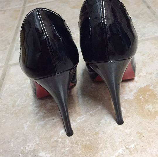 Christian Louboutin Open Toe Pump Pump Black Platforms