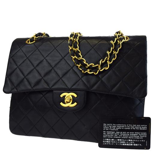 Preload https://item1.tradesy.com/images/chanel-classic-flap-classic-double-chain-black-lambskin-shoulder-bag-21542530-0-0.jpg?width=440&height=440