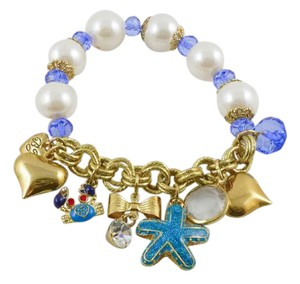 Betsey Johnson NWT Betsey Johnson Gold Tone Enamel Glass Beaded Sea Shore Theme Charm