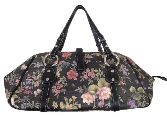 Preload https://item2.tradesy.com/images/handbag-black-floral-vinyl-with-leather-trims-hobo-bag-21542701-0-1.jpg?width=440&height=440