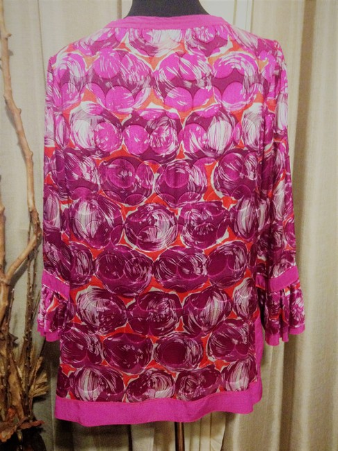 Tory Burch Silk Ruffle Tunic