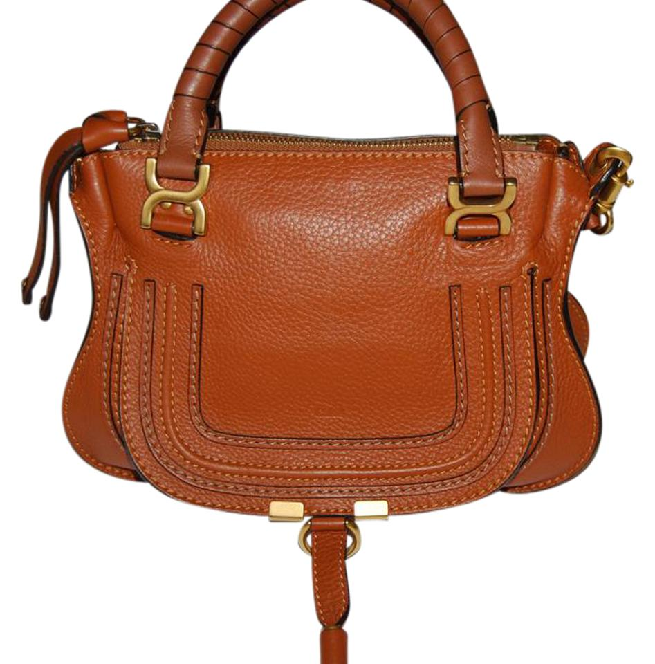 f65861243156 Chloé Marcie With Shoulder Strap Tan Leather Satchel - Tradesy