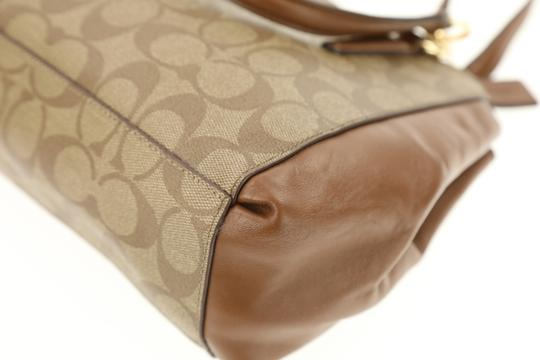 Coach Madison 36718 Christie Carryall Satchel in Brown