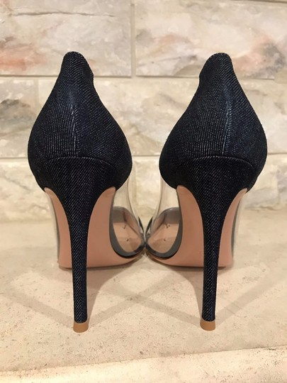 Gianvito Rossi Plexi Denim Stiletto Plastic Clear blue Pumps