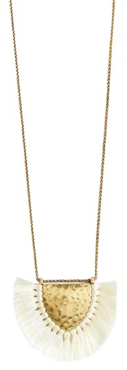 Lucky Brand fringe pendant necklace