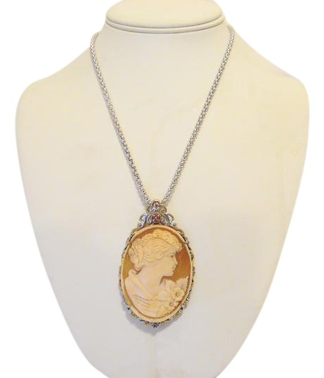 Preload https://item5.tradesy.com/images/925-italy-cameo-enhancerpendant-with-18-chain-necklace-21543024-0-3.jpg?width=440&height=440
