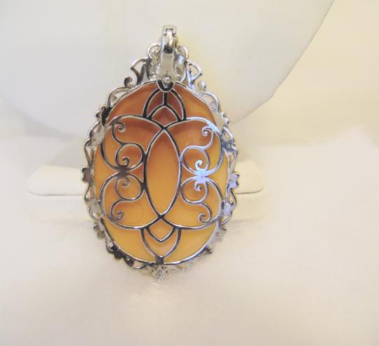 Other Italy .925 Cameo Enhancer/Pendant with 18
