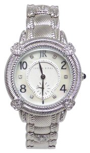 Judith Ripka NEW Cubic Zirconia & Stainless Steel Mother-of-Pearl Sub-dial Watch