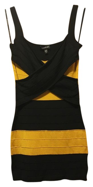 Preload https://item3.tradesy.com/images/bebe-blackgold-bandage-short-night-out-dress-size-8-m-21543147-0-1.jpg?width=400&height=650