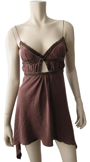 Preload https://img-static.tradesy.com/item/21543168/jlo-brown-by-jennifer-lopez-beads-spagetti-strap-cocktail-silk-blouse-night-out-top-size-2-xs-0-1-650-650.jpg