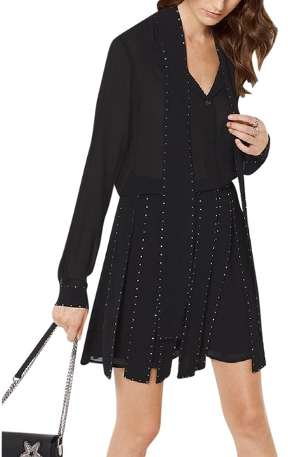 Preload https://img-static.tradesy.com/item/21543175/michael-kors-black-and-gold-studds-2-piece-chiffon-slashed-and-blouse-skirt-suit-size-6-s-0-2-650-650.jpg