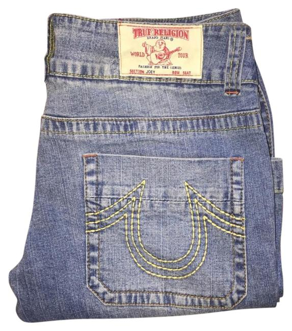 Preload https://item5.tradesy.com/images/true-religion-blue-medium-wash-joey-boot-cut-jeans-size-32-8-m-21543224-0-1.jpg?width=400&height=650