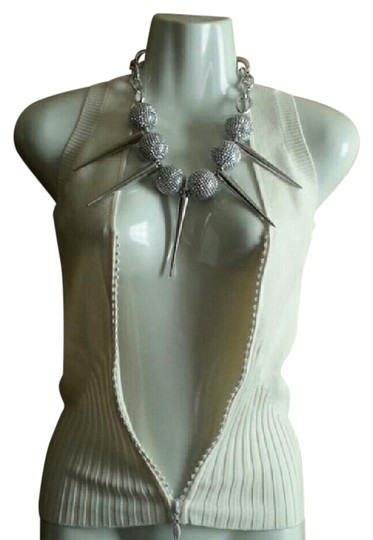 Preload https://item3.tradesy.com/images/silver-large-balls-and-spikes-necklace-21543302-0-1.jpg?width=440&height=440