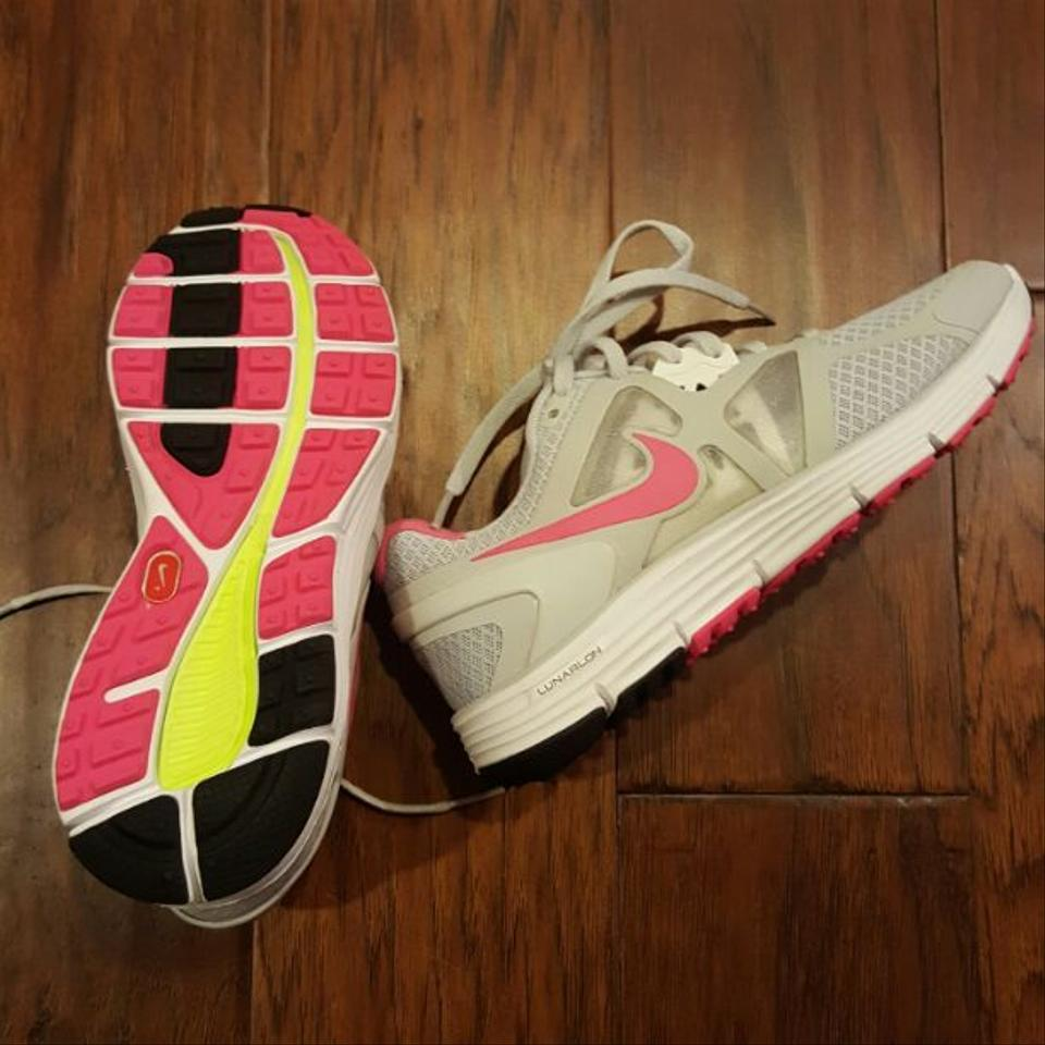 detailed look 499a9 d1006 Nike Gray Pink Womens Lunarglide 3 Platinum Flash Running Nwot Sneakers ...