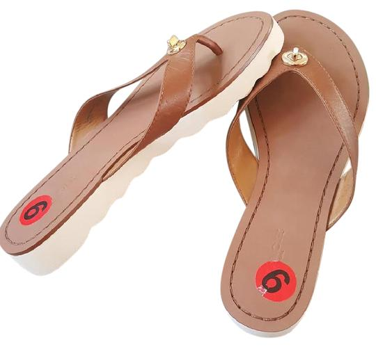 Preload https://item2.tradesy.com/images/coach-brown-tan-shelly-leather-thong-strap-flip-flop-nwot-sandals-size-us-6-regular-m-b-21543361-0-2.jpg?width=440&height=440