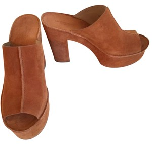 Michael Kos Collection Brown Suede Platforms