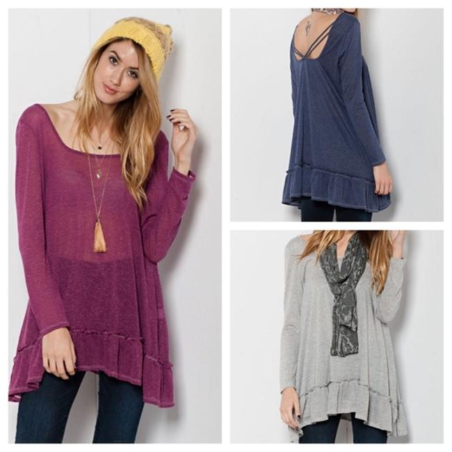 Preload https://item2.tradesy.com/images/easel-multicolor-magenta-navy-grey-bohemian-ruffled-baby-doll-layering-to-blouse-size-8-m-21543571-0-0.jpg?width=400&height=650