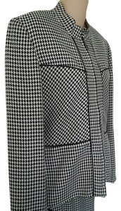 Ilyse Hart Asymetrical Black & White Houndstooth Suit