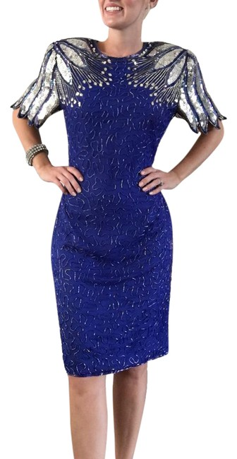 Preload https://img-static.tradesy.com/item/21543659/blue-and-silver-sequin-dress-sequin-dress-formal-dress-party-mid-length-cocktail-dress-size-8-m-0-1-650-650.jpg