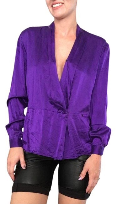 Preload https://img-static.tradesy.com/item/21543669/nolan-miller-purple-silky-blouse-v-neck-blouse-silk-vibrant-blouse-size-6-s-0-1-650-650.jpg