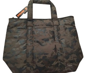 Head porter Green Tote in olive camo