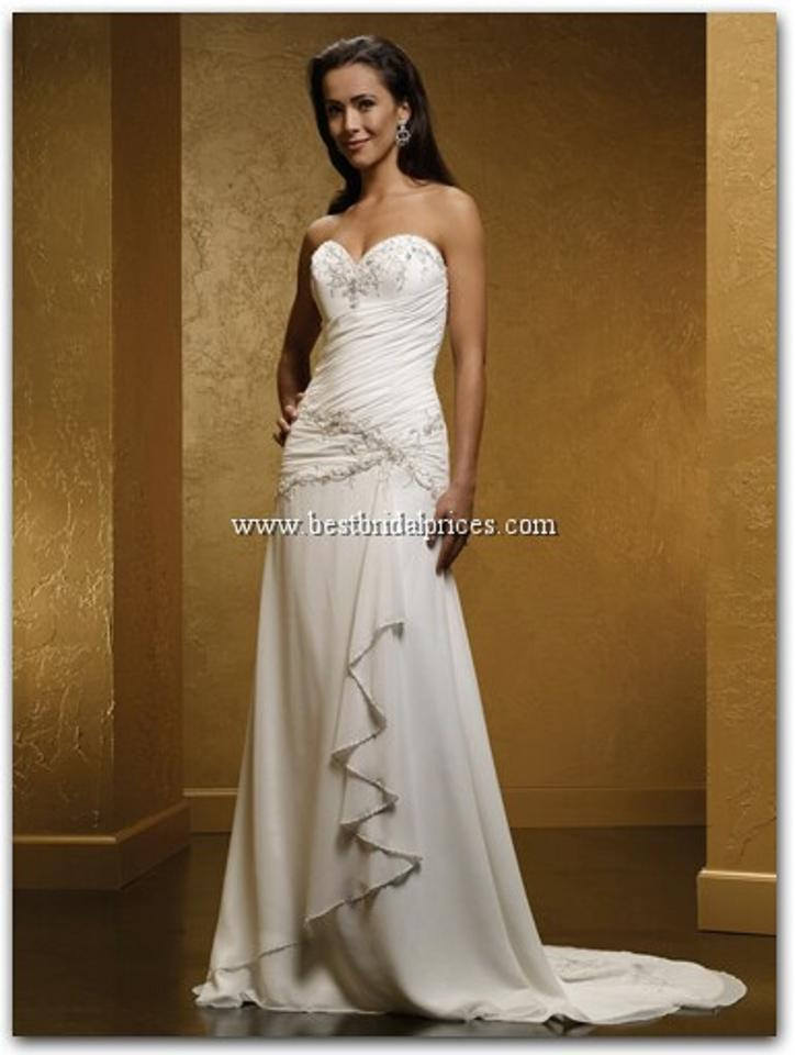 Mia Solano Diamond White 410 Wedding Dress Size 10 (M) - Tradesy