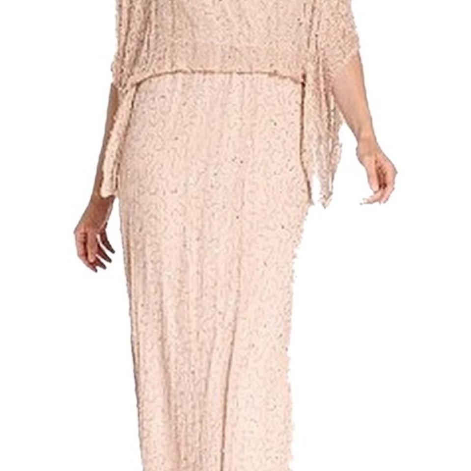 Patra Blush Pink /Nude Evening Gown Long Formal Dress Size 14 (L ...