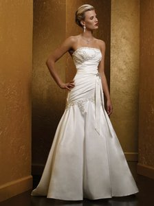 Mia Solano Ivory 470 Wedding Dress Size 10 (M)