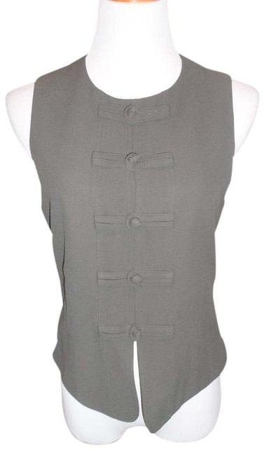 Item - Green Cheap and Chic By Fab Vest with Unique Details Button-down Top Size 8 (M)