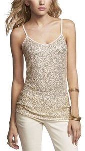 Express Cami Sequin Top gold
