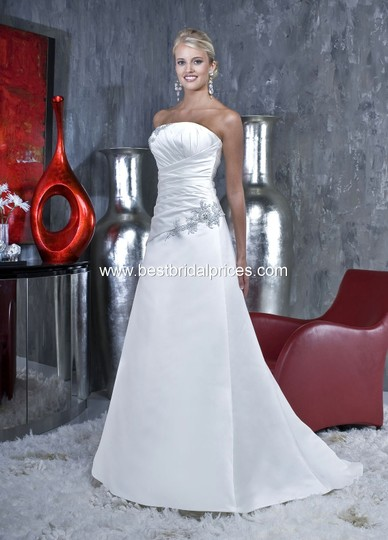 DaVinci White 8347 Wedding Dress Size 14 (L)