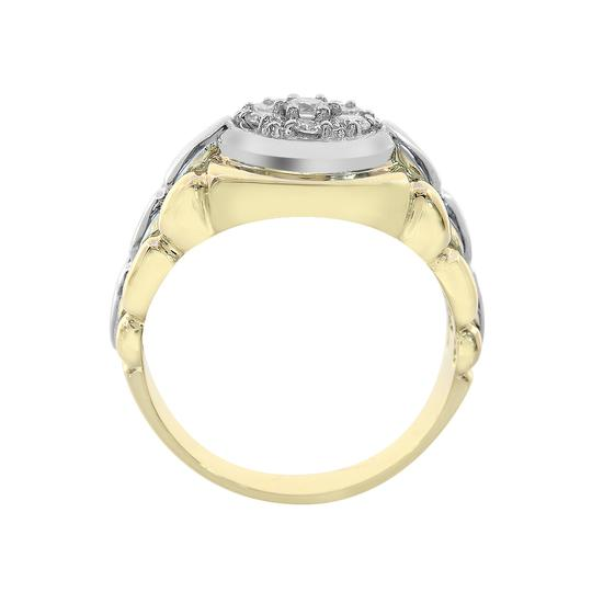 Avital & Co Jewelry 0.75ct Round Cut Prong Setting Diamonds Mens Ring 18k Two Tone Gold