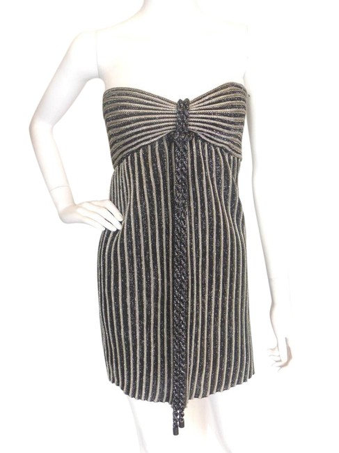 Preload https://item1.tradesy.com/images/missoni-black-and-silver-black-silver-metallic-ribbed-euro-36-short-cocktail-dress-size-0-xs-21543925-0-1.jpg?width=400&height=650
