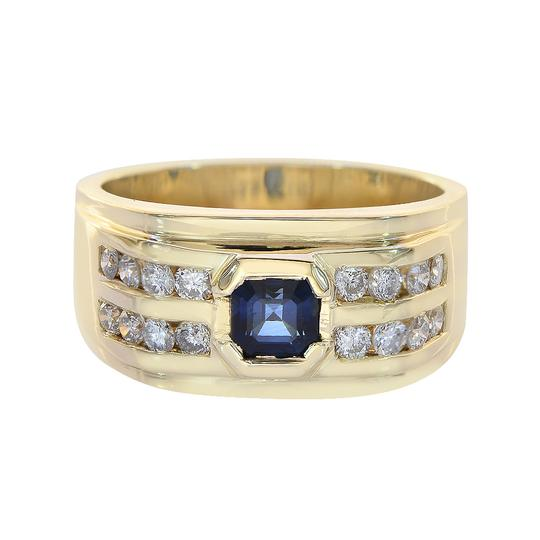 Preload https://item4.tradesy.com/images/avital-and-co-jewelry-14k-yellow-gold-065ct-round-cut-diamonds-075ct-princess-cut-sapphire-men-yg-ri-21543958-0-0.jpg?width=440&height=440