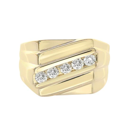 Preload https://img-static.tradesy.com/item/21543980/avital-and-co-jewelry-14k-yellow-gold-055-carat-round-cut-diamond-channel-setting-mens-ring-0-0-540-540.jpg