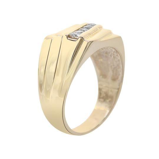 Avital & Co Jewelry 0.55 Carat Round Cut Diamond Channel Setting Mens Ring 14K Yellow Gold