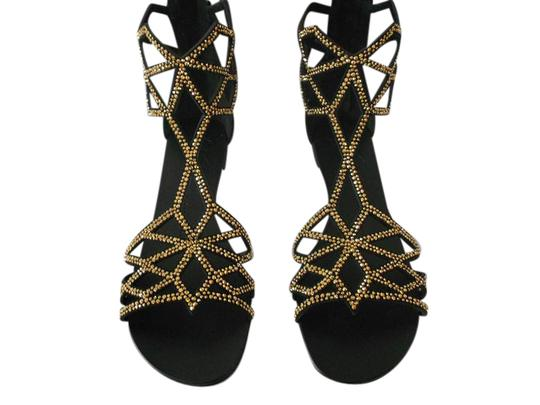 Giuseppe Zanotti Striking Design Made In Italy Black Sandals