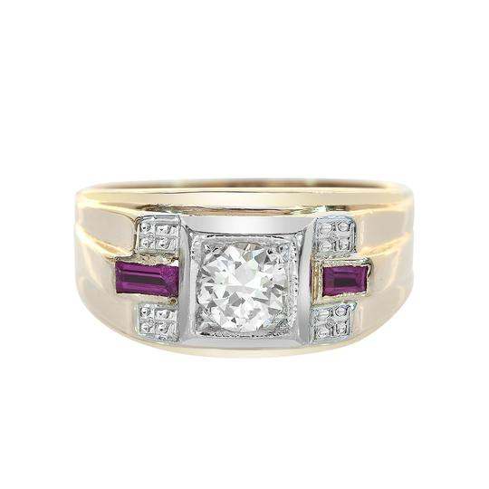 Preload https://img-static.tradesy.com/item/21544087/avital-and-co-jewelry-14k-yellow-gold-065ct-diamond-020ct-man-made-ruby-antique-mens-ring-0-0-540-540.jpg