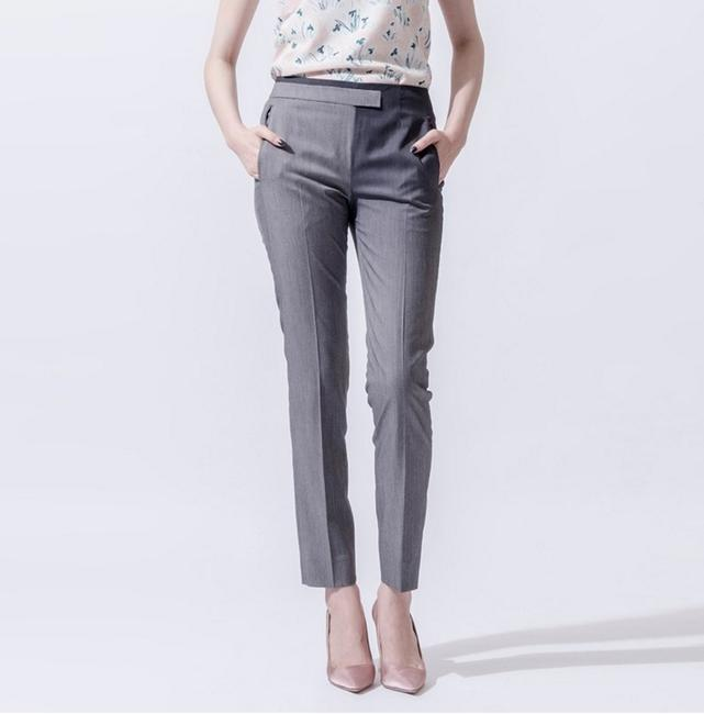 iohll Gradient Pattern Skinny Trouser Pants Gray