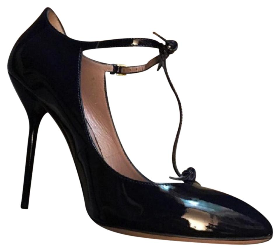 e2389ec8702d Gucci Beverly T-strap In Patent Leather Vernice Crystal Pumps Size ...