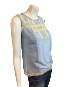 Paul Smith Silk Lace Silk Joie Top blue