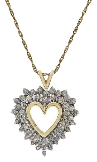 Preload https://item3.tradesy.com/images/avital-and-co-jewelry-14k-yellow-gold-075-carat-round-cut-diamond-heart-shape-necklace-21544222-0-1.jpg?width=440&height=440