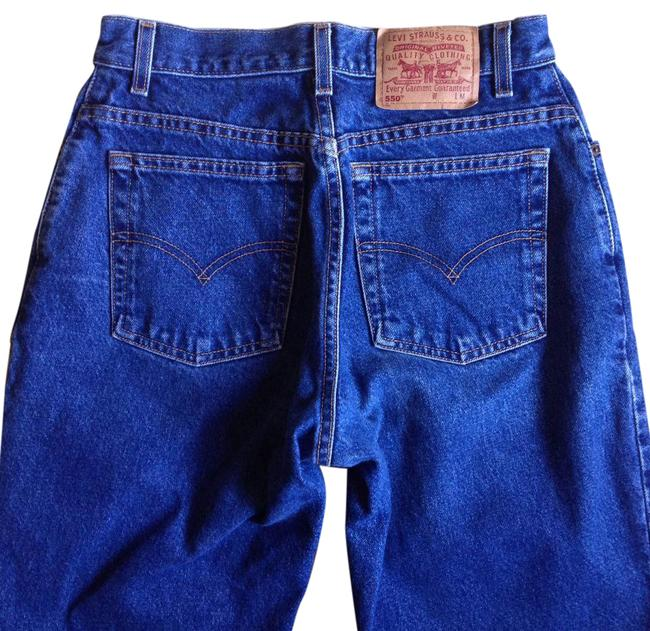 Preload https://item3.tradesy.com/images/levi-s-dark-rinse-blue-high-waisted-tapered-relaxed-fit-jeans-size-29-6-m-21544232-0-3.jpg?width=400&height=650