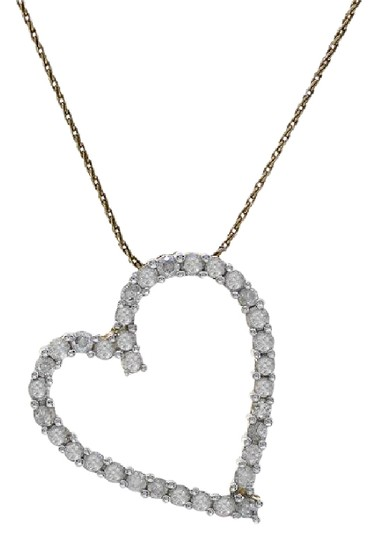Preload https://img-static.tradesy.com/item/21544239/avital-and-co-jewelry-14k-yellow-gold-100-carat-round-cut-diamond-heart-shape-necklace-0-1-540-540.jpg