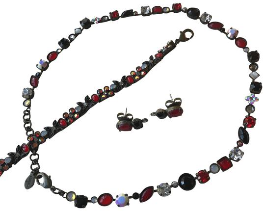 Preload https://img-static.tradesy.com/item/21544248/sorrelli-black-red-sparkling-clear-crystal-and-white-crystal-statement-bracelet-earrings-necklace-0-10-540-540.jpg