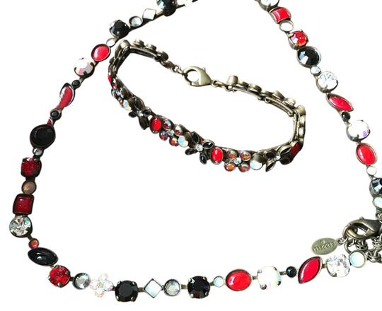 Sorrelli crystal statement necklace, bracelet, and earrings