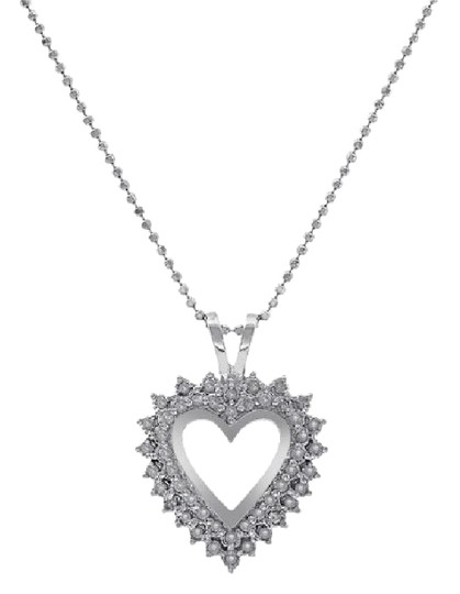 Preload https://item4.tradesy.com/images/avital-and-co-jewelry-14k-white-gold-050-carat-round-cut-diamond-heart-shape-necklace-21544258-0-1.jpg?width=440&height=440
