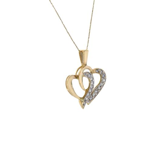 Preload https://item5.tradesy.com/images/avital-and-co-jewelry-10k-yellow-gold-030-carat-round-cut-diamond-heart-shape-necklace-21544279-0-1.jpg?width=440&height=440