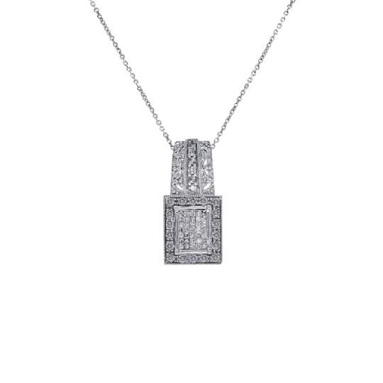 Preload https://item5.tradesy.com/images/avital-and-co-jewelry-14k-white-gold-075-carat-round-cut-and-princess-cut-diamonds-necklace-21544299-0-1.jpg?width=440&height=440